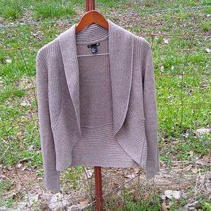 H & M open front cardigan size medium